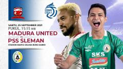 Indosport - Prediksi Madura United vs PSS Sleman