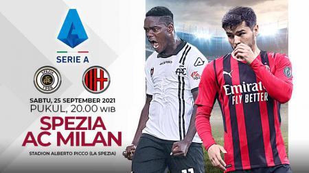 Pertandingan antara Spezia vs AC Milan (Serie A Italia). - INDOSPORT