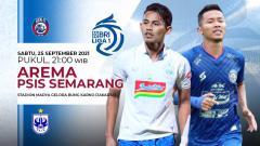 Indosport - Pertandingan antara Arema FC vs PSIS Semarang (Liga 1 BRI).