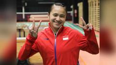 Indosport - Melati Daeva Oktavianti, pemain bulutangkis asal Indonesia.
