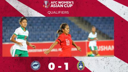 Hasil Kualifikasi Piala Asia Wanita 2022 Singapura vs Indonesia - INDOSPORT