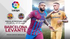 Indosport - Pertandingan antara Barcelona vs Levante (LaLiga).