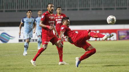 Persija akan menghadapi Persita pada pekan kelima Liga 1 di Stadion Pakansari, Selasa (28/09/21) malam. - INDOSPORT