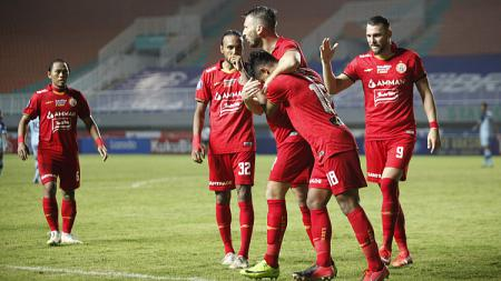 Persija Jakarta dijadwalkan menjalani lima pertandingan di seri kedua Liga 1 2021/2022. - INDOSPORT