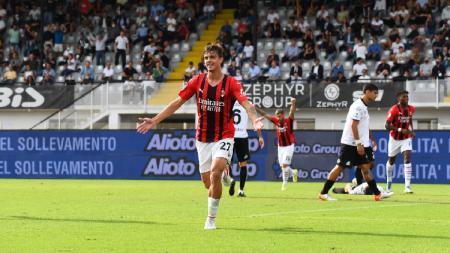 Daniel Maldini di laga Spezia vs AC Milan - INDOSPORT