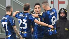 Indosport - Selebrasi gol Lautaro Martinez di laga Inter Milan vs Atalanta dalam lanjutan Serie A Liga Italia.