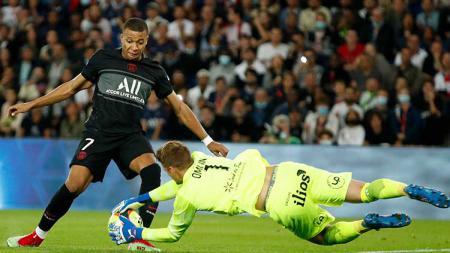 Aksi Kylian Mbappe di laga PSG vs Montpellier dalam lanjutan Ligue 1 Prancis. - INDOSPORT