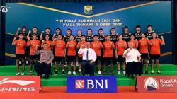 Skuat tim bulutangkis Indonesia di Piala Sudirman 2021.