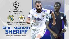 Indosport - Pertandingan antara Real Madrid vs Sheriff (Liga Champions).
