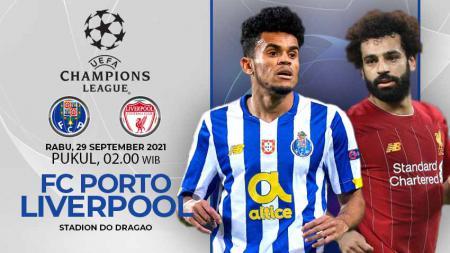 Berikut ini link live streaming pertandingan matchday kedua Liga Champions 2021/2022 Grup B antara FC Porto vs Liverpool. - INDOSPORT