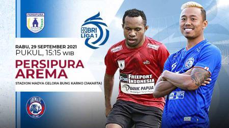 Pertandingan antara Persipura Jayapura vs Arema FC (Liga 1 BRI). - INDOSPORT
