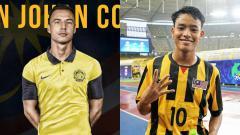 Indosport - Pemain Timnas Malaysia, Dion Cools dan Luqman Hakim