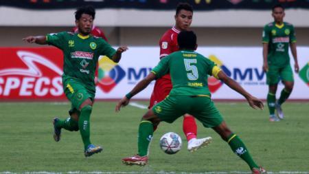 Hizbul Wathan Football Club (HWFC) saat berhadapan dengan Persijap di laga awal Liga 2. - INDOSPORT