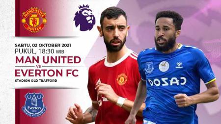 Berikut link live streaming pertandingan Liga Inggris 2021-2022 antara Manchester United vs Everton pada Sabtu (02/10/21) pukul 18:30 WIB. - INDOSPORT