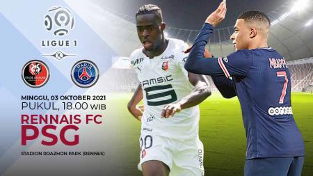 Pertandingan antara Stade Rennais FC vs Paris Saint-Germain (Ligue 1). - INDOSPORT