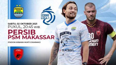 Prediksi pertandingan antara Persib Bandung vs PSM Makassar pada pekan keenam Liga 1 2021/22 di Stadion Wibawa Mukti, Bekasi, Sabtu (02/10/21). - INDOSPORT