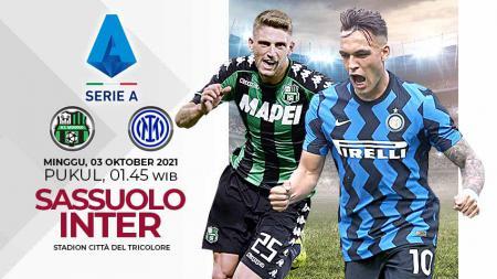 Berikut link live streaming pertandingan lanjutan pekan ketujuh kompetisi Liga Italia musim 2021-2022 antara Sassuolo vs Inter Milan. - INDOSPORT