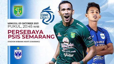 Pertandingan antara Persebaya vs PSIS Semarang (Liga 1 BRI). - INDOSPORT