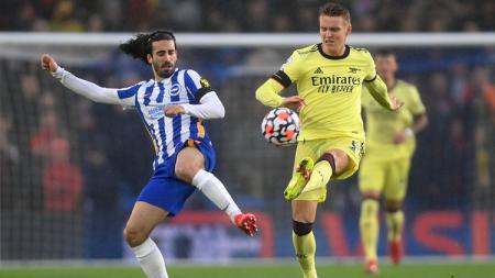 Suasana laga Brighton vs Arsenal di Liga Inggris - INDOSPORT