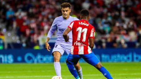 Pertandingan Liga Spanyol Atletico Madrid vs Barcelona. - INDOSPORT