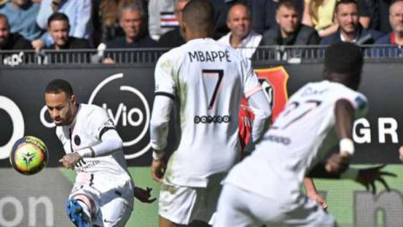 Neymar di laga Rennes vs Paris Saint-Germain - INDOSPORT