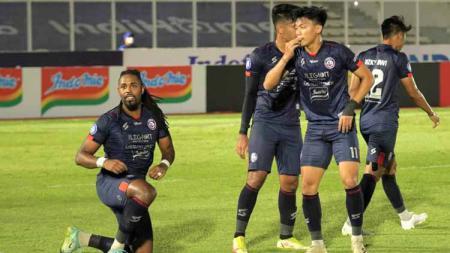 Arema FC akan berhadapan dengan Persija Jakarta pada pekan ke-7 Liga 1 2021-2022, Minggu (17/10/21). - INDOSPORT