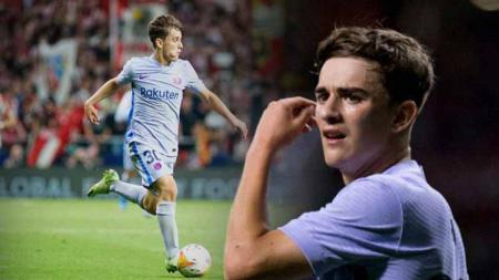 Gavi, pemain muda Barcelona yang dipanggil ke Timnas Spanyol. - INDOSPORT