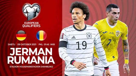 Link Live Streaming Kualifikasi Piala Dunia 2022 zona Eropa antara Jerman vs Rumania. - INDOSPORT