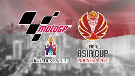 Logo MotoGP, FIBA dan Piala Dunia U-20 di indonesia. - INDOSPORT