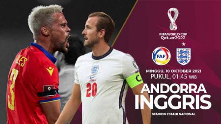 Berikut link live streaming pertandingan ketujuh Grup I Kualifikasi Piala Dunia 2022 zona Eropa antara Andorra vs Inggris. - INDOSPORT
