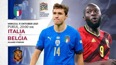 Link live streaming pertandingan perebutan juara ketiga UEFA Nations League 2020/2021 antara Italia vs Belgia pada Minggu (10/10/21) pukul 20.00 WIB. - INDOSPORT
