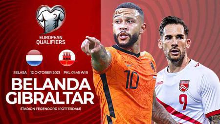 Link Live Streaming Kualifikasi Piala Dunia: Belanda vs Gibraltar - INDOSPORT
