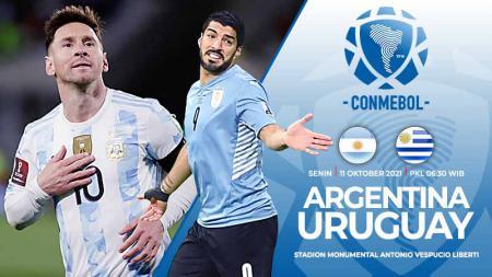 Berikut prediksi pertandingan Kualifikasi Piala Dunia 2022 zona CONMEBOL yang mempertemukan Argentina vs Uruguay pada Senin (11/10/21) pukul 06.30 WIB. - INDOSPORT
