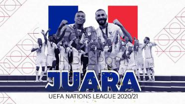 (GALERI FOTO) Perayaan Timnas Prancis Juara UEFA Nations League