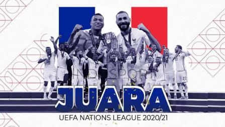 Prancis juara UEFA Nations League, Senin (11/10/21).