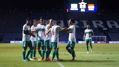 Penampilan Timnas Indonesia di leg kedua playoff kualifikasi Piala Asia 2023 saat mengalahkan Taiwan benar-benar memuaskan PSSI. - INDOSPORT