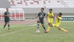 Indosport - PSMS Medan saat menaklukkan Muba babel 2-0 di laga kedua Grup A Liga 2 2021.