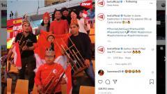 Indosport - Bocah Laki-laki Fans Indonesia Viral di Piala Thomas Uber