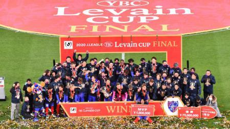 Gelaran J League YBC Levain Cup 2021 sudah memasuki laga final yang akan dihelat pada 30 Oktober 2021 di Saitama Stadium 2002. - INDOSPORT
