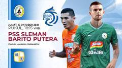 Indosport - Pertandingan antara PSS Sleman vs Barito Putera (Liga 1 BRI).