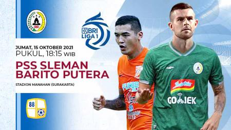 Pertandingan antara PSS Sleman vs Barito Putera (Liga 1 BRI). - INDOSPORT