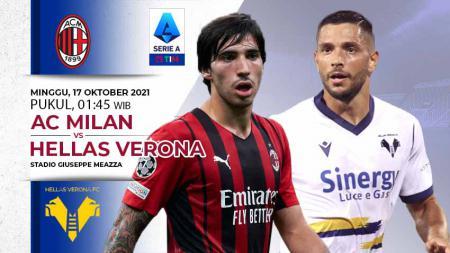 AC Milan akan menjamu Hellas Verona pada pekan ke-8 Liga Italia 2021/2022 di Stadion San Siro, Minggu (17/10/21) dini hari WIB. - INDOSPORT