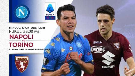 Berikut link live streaming pertandingan pekan kedelapan Liga Italia 2021-2022 antara Napoli vs Torino yang berlangsung pada Minggu (17/10/21) pukul 23:00 WIB. - INDOSPORT