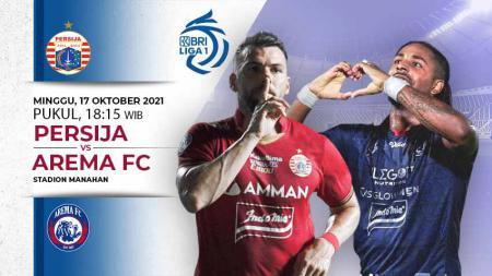 Prediksi antara Persija Jakarta vs Arema FC pada pekan ketujuh Liga 1 2021-2022 di Stadion Manahan Solo, (17/10/21). - INDOSPORT
