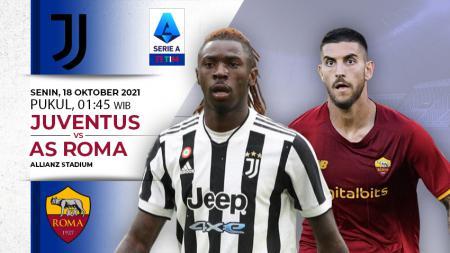 Berikut ini prediksi pertandingan lanjutan Liga Italia 2021-2022 antara Juventus vs AS Roma yang akan berlangsung Senin (18/10/21) pukul 01.45 WIB. - INDOSPORT