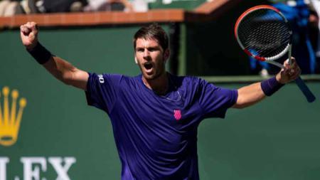 Cameron Norrie melaju ke semifinal Indian Wells usai mengalahkan Diego Schwartzman. - INDOSPORT
