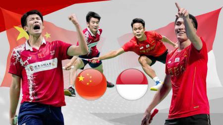 Indonesia akan berhadapan dengan China di final Piala Thomas 2020 dan bagaimana rivalitas antara kedua negara dalam sejarah turnamen sejauh ini? - INDOSPORT