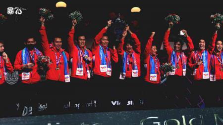 Potret tim bulutangkis Indonesia juara Piala Thomas 2020 - INDOSPORT