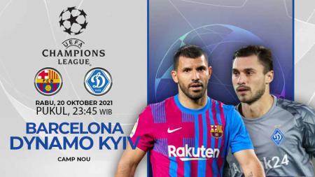 Berikut ini link live streaming pertandingan Liga Champions antara Barcelona vs Dynamo Kyiv pada hari Kamis (21/10/21) dini hari WIB. - INDOSPORT