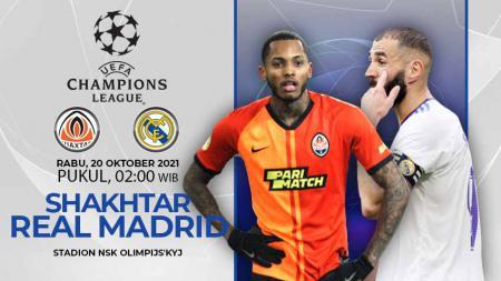 Berikut link live streaming pertandingan lanjutan pekan ketiga Liga Champions Eropa musim 2021-2022 antara Shakhtar Donetsk vs Real Madrid. - INDOSPORT